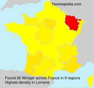 Surname Winiger in France