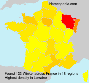 Surname Winkel in France