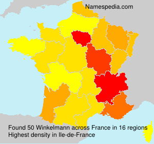 Surname Winkelmann in France