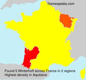 Surname Winterhoff in France
