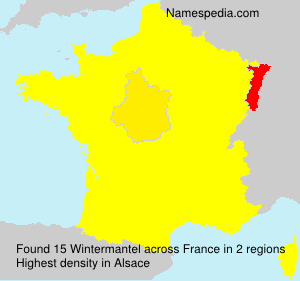 Surname Wintermantel in France