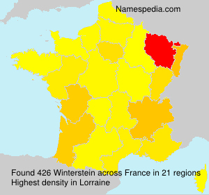 Surname Winterstein in France