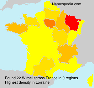 Surname Wirbel in France