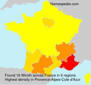 Surname Wiroth in France