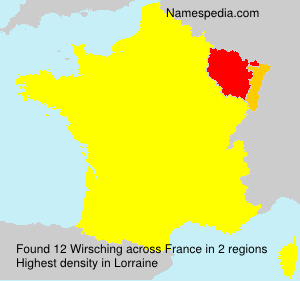 Surname Wirsching in France