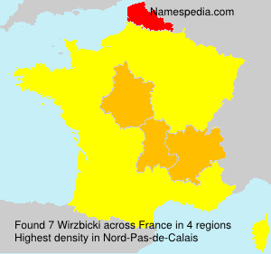 Surname Wirzbicki in France
