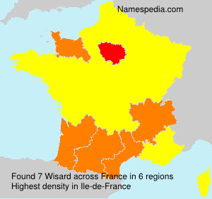 Surname Wisard in France