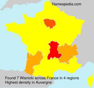 Familiennamen Wisnicki - France