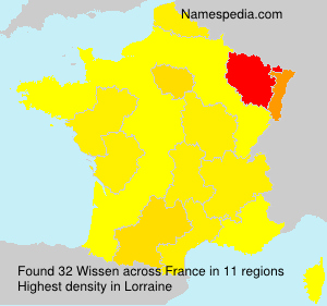 Surname Wissen in France