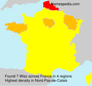 Surname Wisz in France