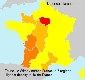 Surname Withey in France