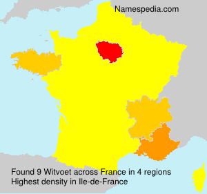 Surname Witvoet in France