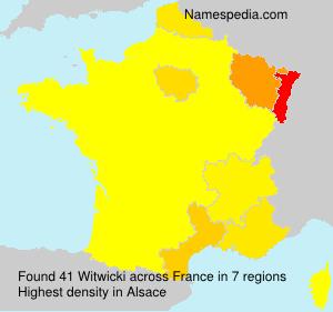 Familiennamen Witwicki - France