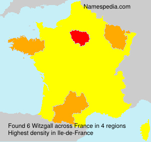 Familiennamen Witzgall - France