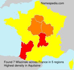 Familiennamen Wlazinski - France