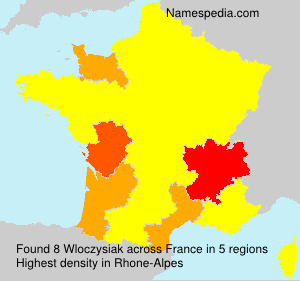 Surname Wloczysiak in France