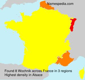 Familiennamen Wochnik - France