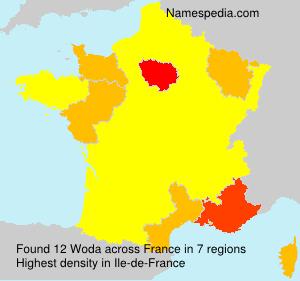 Surname Woda in France