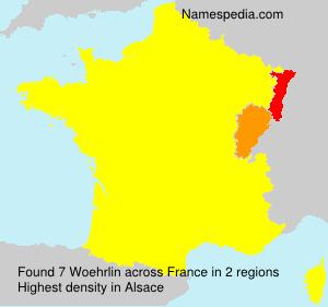 Surname Woehrlin in France