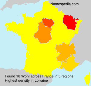Surname Wohl in France