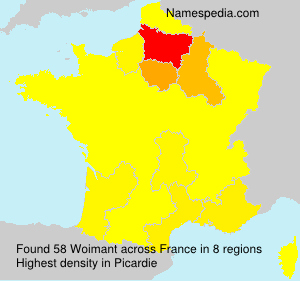 Surname Woimant in France