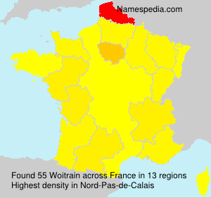 Surname Woitrain in France
