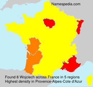 Surname Wojciech in France