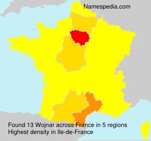 Surname Wojnar in France