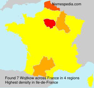 Surname Wojtkow in France