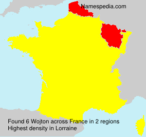 Surname Wojton in France