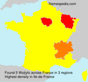 Surname Wojtylo in France