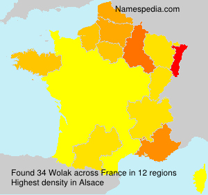 Surname Wolak in France