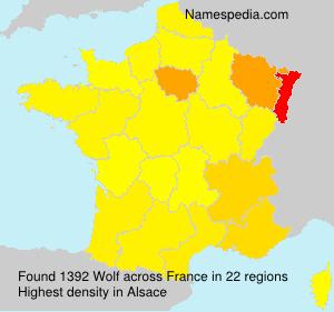 Familiennamen Wolf - France