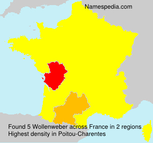 Surname Wollenweber in France