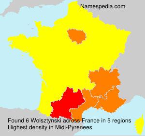 Surname Wolsztynski in France