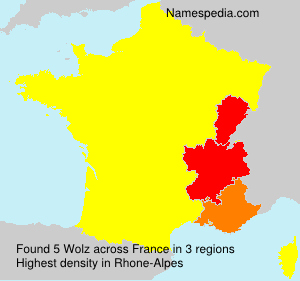 Surname Wolz in France