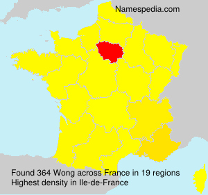 Surname Wong in France