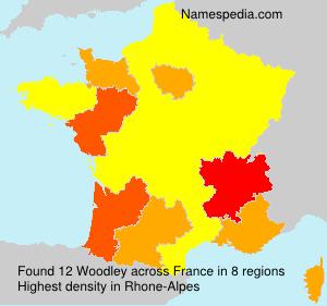 Surname Woodley in France