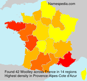 Surname Woolley in France