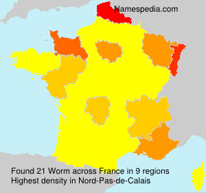 Surname Worm in France