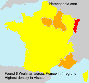 Surname Wortman in France