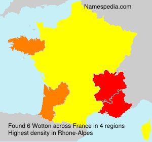 Surname Wotton in France