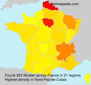 Surname Wrobel in France