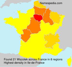 Familiennamen Wszolek - France