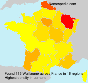 Familiennamen Wuillaume - France