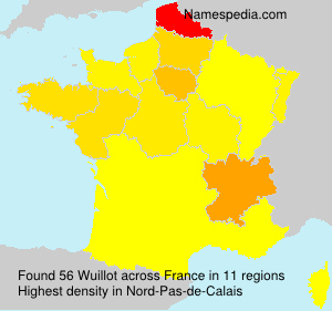 Surname Wuillot in France