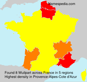 Surname Wuilpart in France