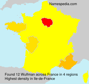 Surname Wulfman in France