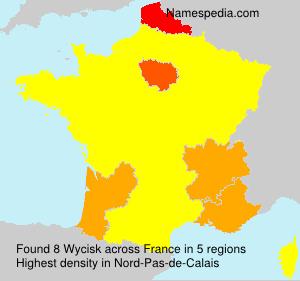 Surname Wycisk in France