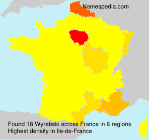 Surname Wyrebski in France